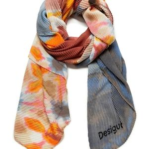 🇪🇸 Desigual pleated scarf flowers and paint